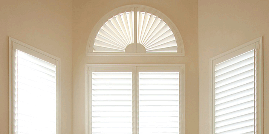 plantation shutters for arched windows Austin TX