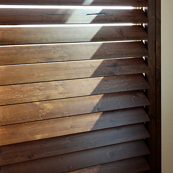 premium shutter option stained wood shutters Austin TX
