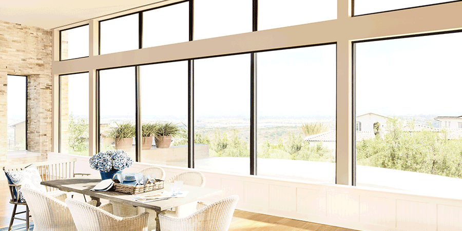 Get rid of glare by adding window shades to bare windows