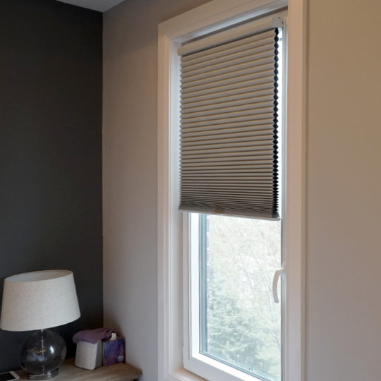 bedroom turn and tilt Hunter Douglas duette honeycomb track glide shades Austin 78758