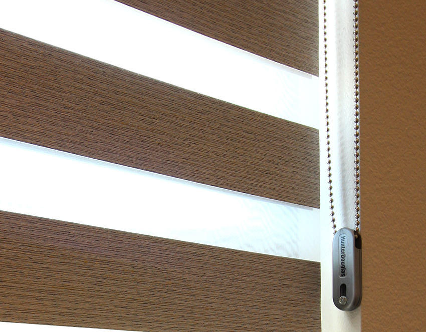 cord safe blinds with chained secured in window frame Austin TX