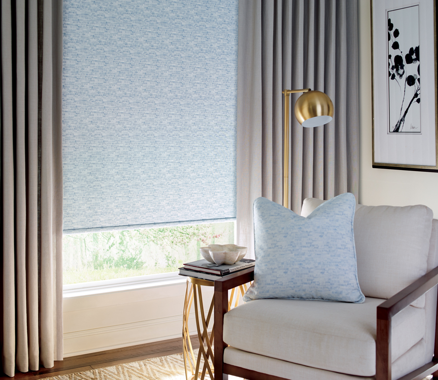 hunter douglas custom fabric roller shades Austin TX