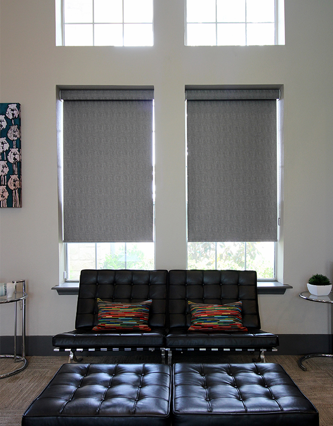 gray patterned roller shades Austin TX