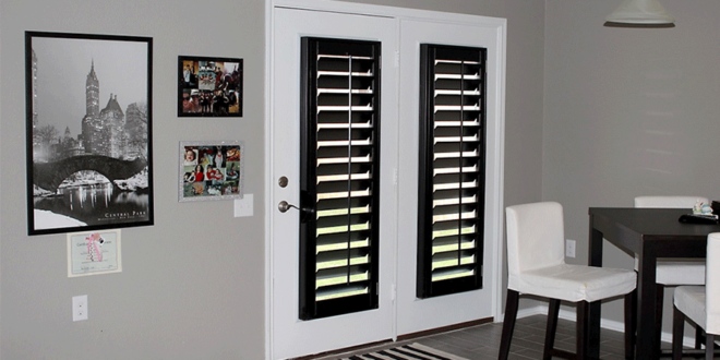 the color black in home decor plantation shutters Austin TX