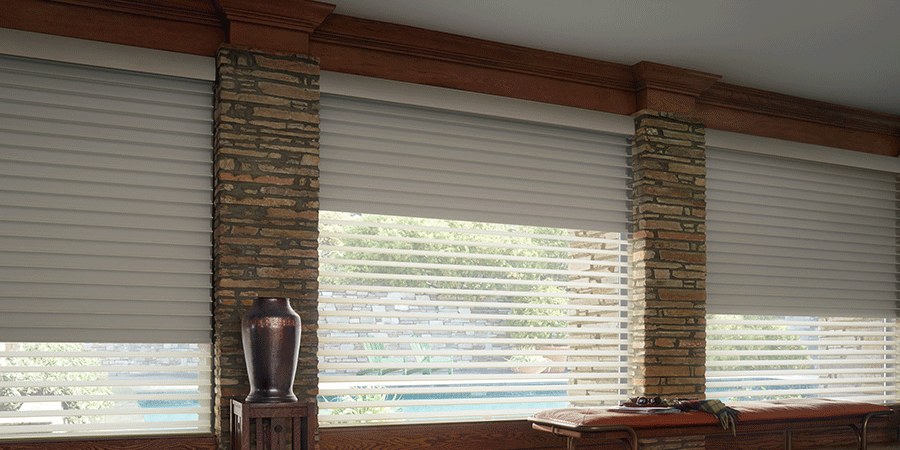 window treatments for room darkening to blackout Austin TX