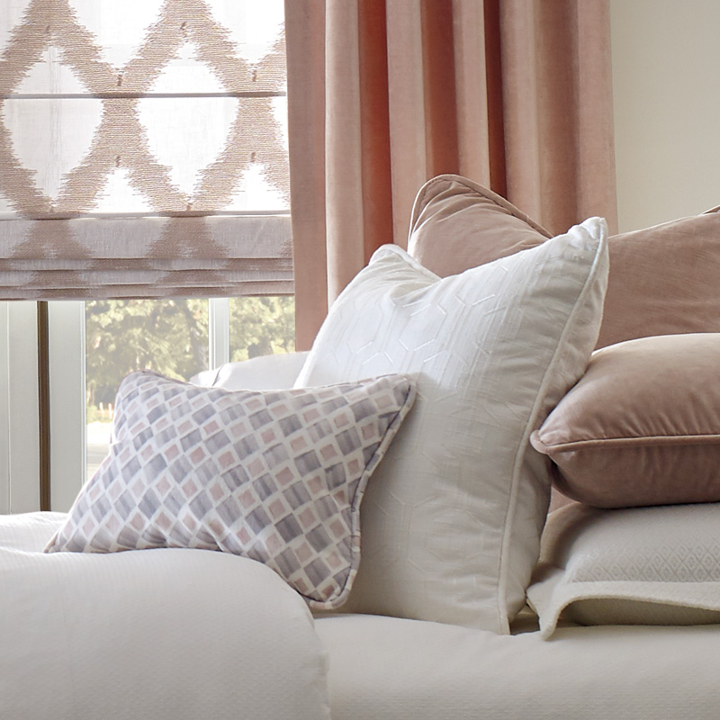 fabric accent pillows with the design Studio Austin TX