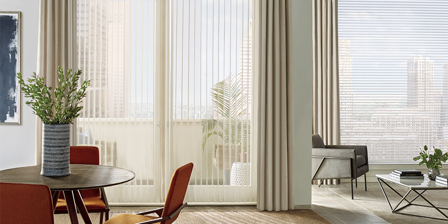 best window treatments for sliding glass doors Austin TX
