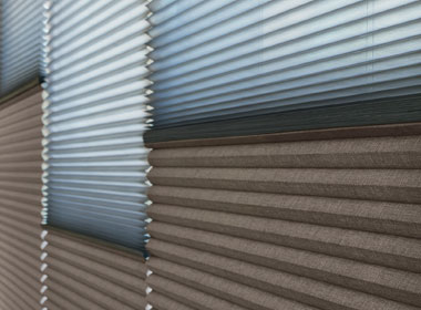 dual honeycomb shades with light filtering and room darkening Austin, TX