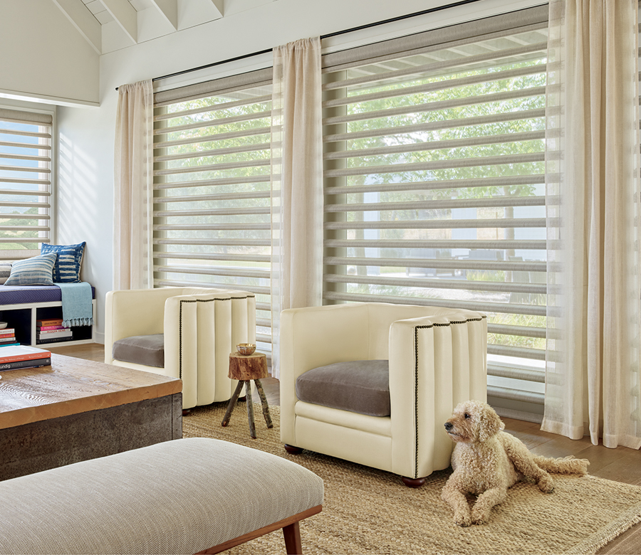 pirouette motorized shades in Austin TX