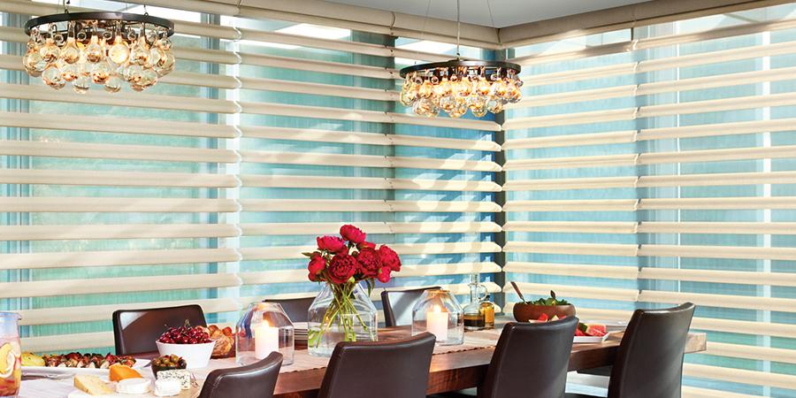 dining room floor to ceiling windows