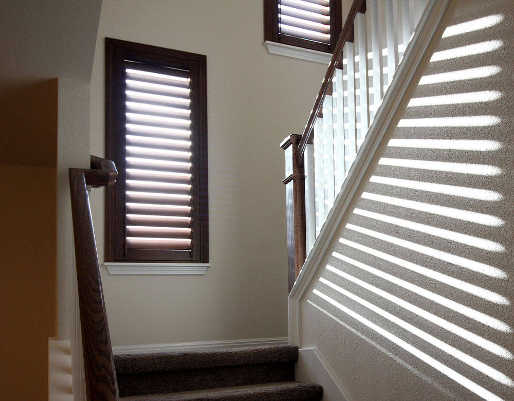 staircase with shutters in Austin TX