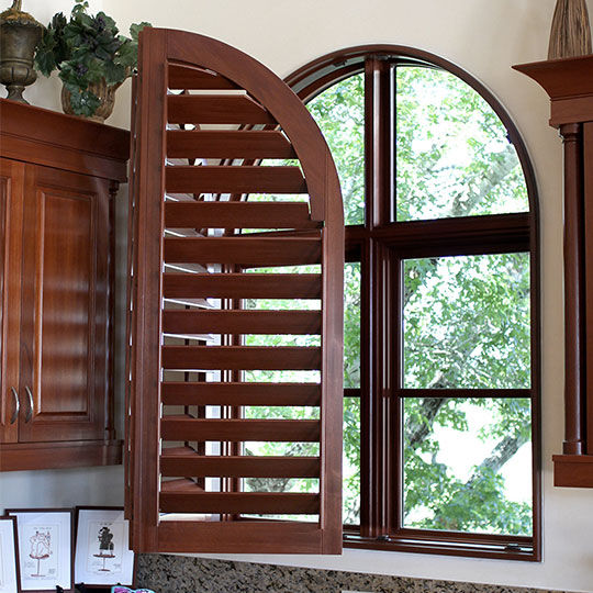 arched shutters for specialty windows in Austin TX