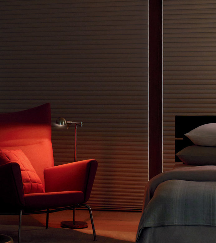 room darkening cellular roller shades for bedroom in Austin TX