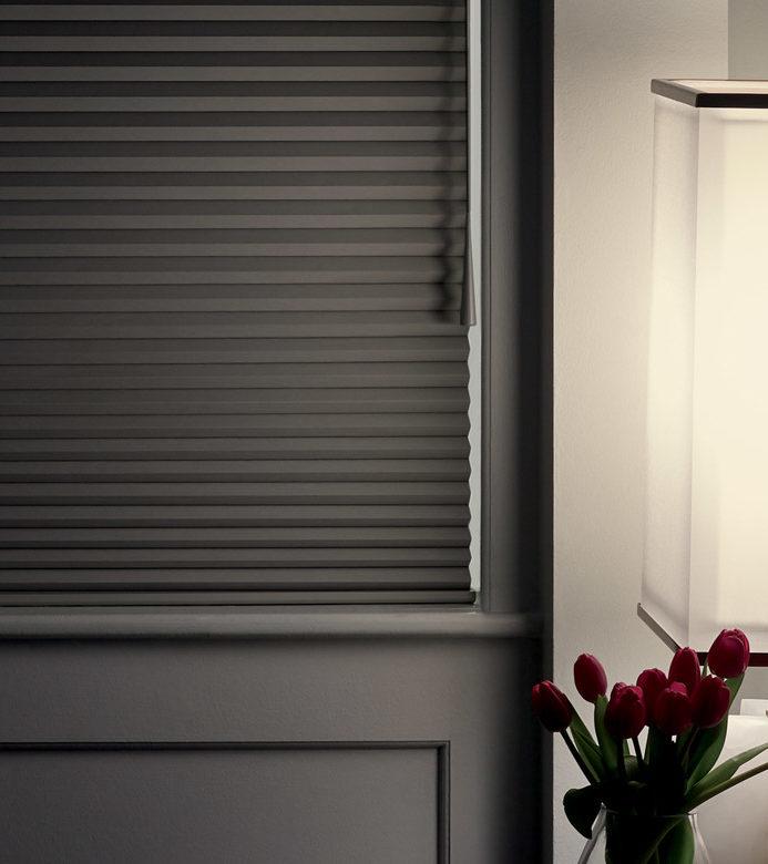 motorized cellular shades for room darkening blinds in Austin TX