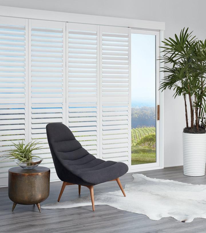 cover glass doors with sliding glass door window treatments white sliding door shutters in Austin TX