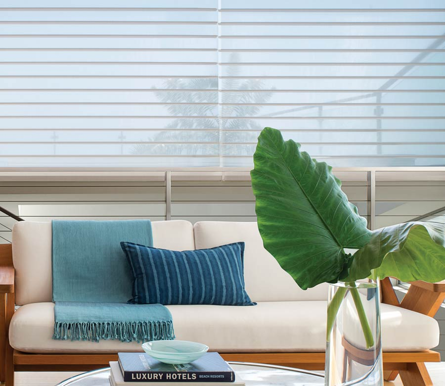 fabric shades on large landscape view in austin tx