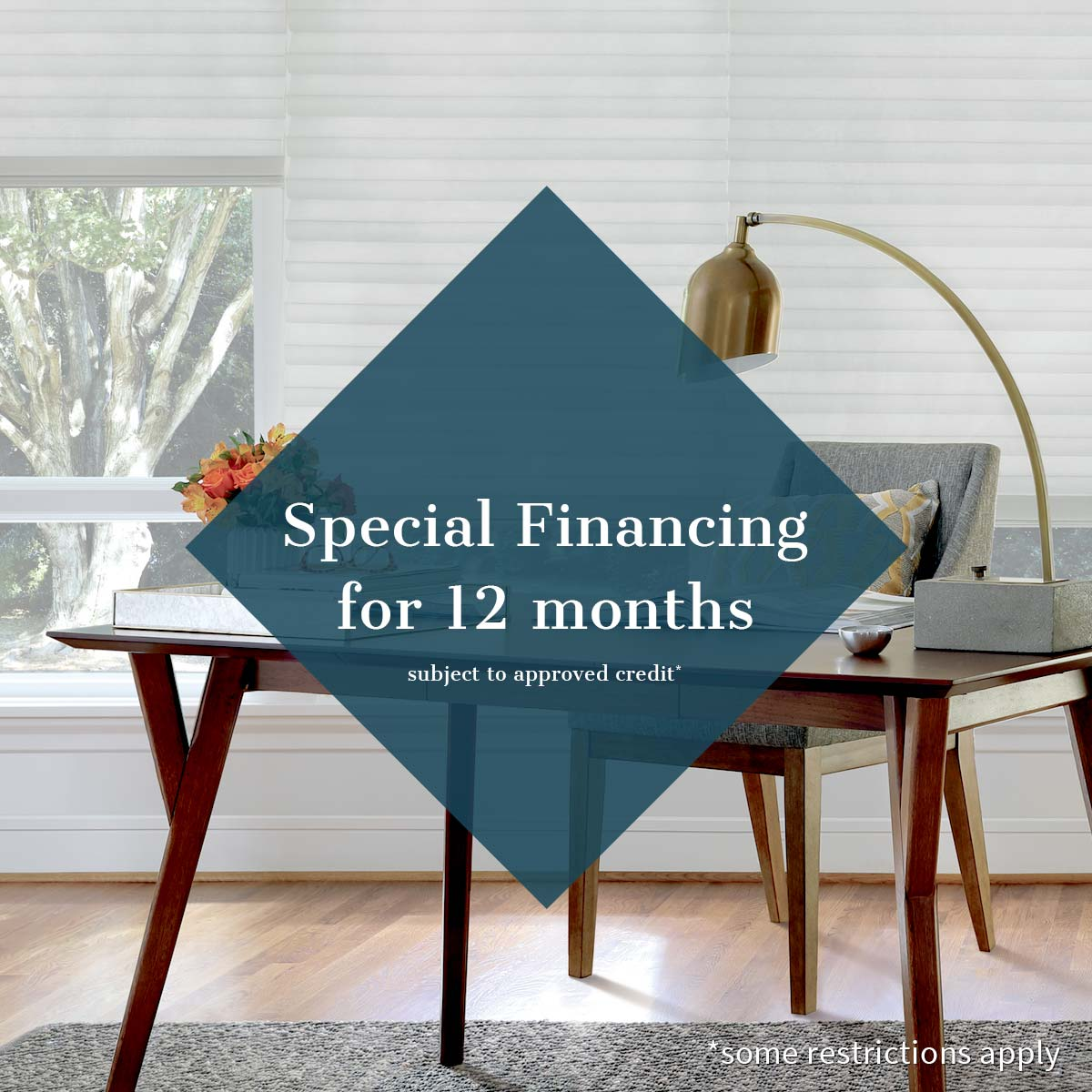 special financing for 12 months subject to approved credit some restrictions apply