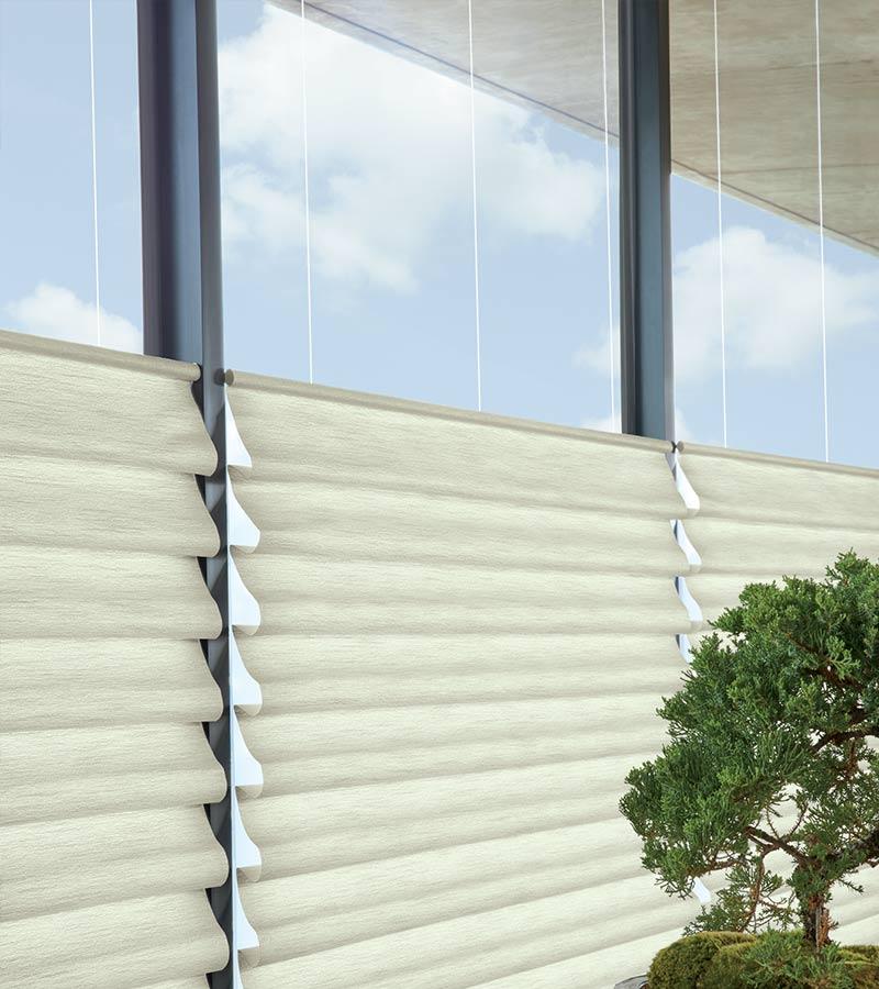 top down roman shades on floor to ceiling windows in Cedar Park TX
