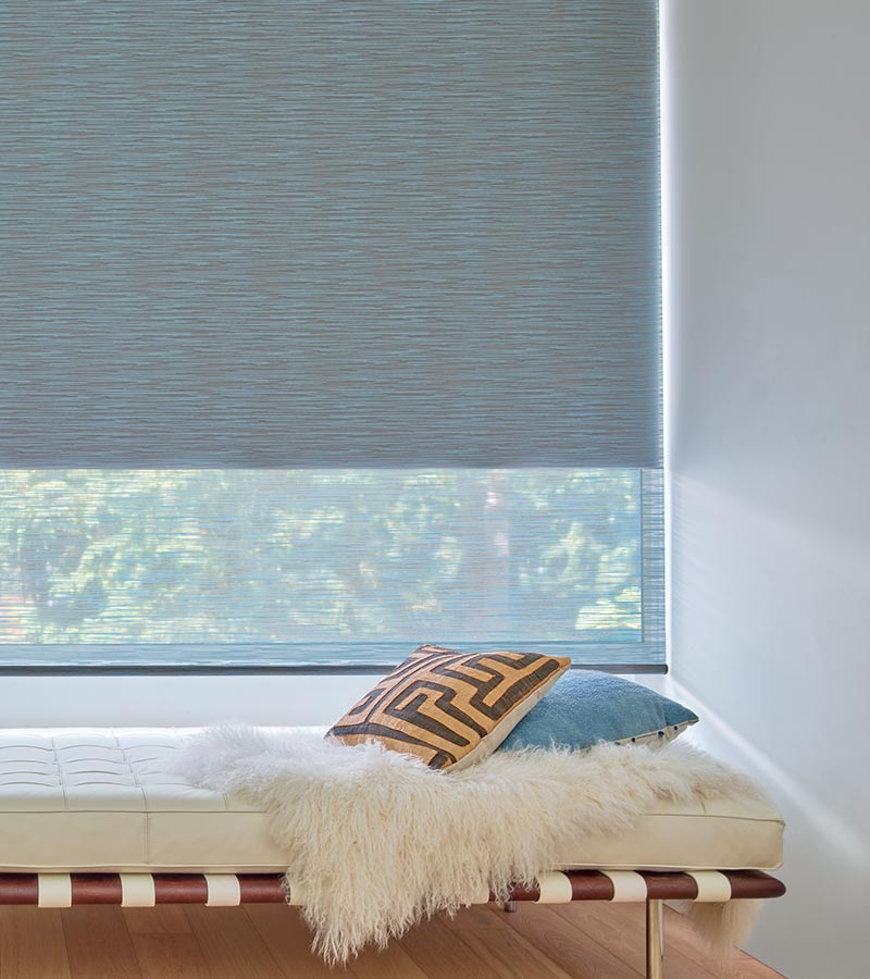 dual shades screen shades for light filtering with secondary blackout shade on the same window