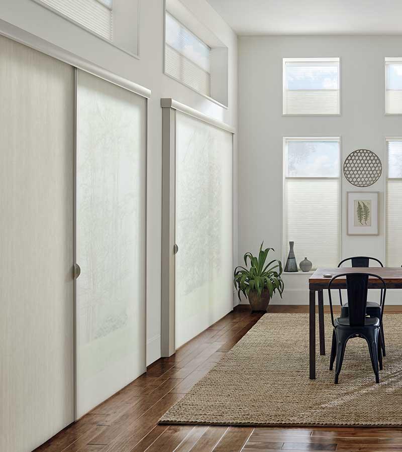 floor to ceiling dual opacity privacy sheers in Leander 78641