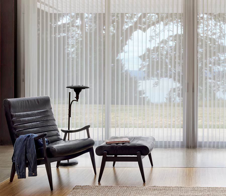 best window treatments for large windows vertical shades Leander 78641