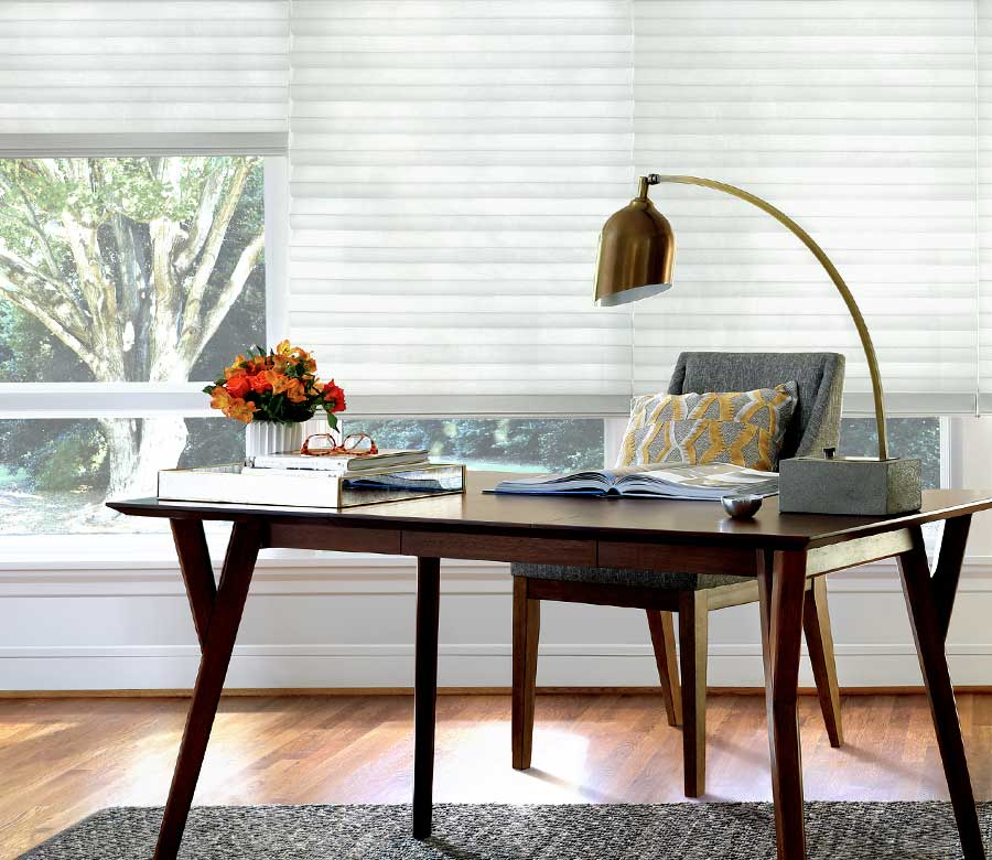 contemporary white office window shades for privacy